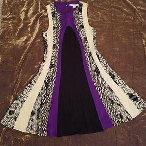 Diane Von Furstenberg flowy A-line dress